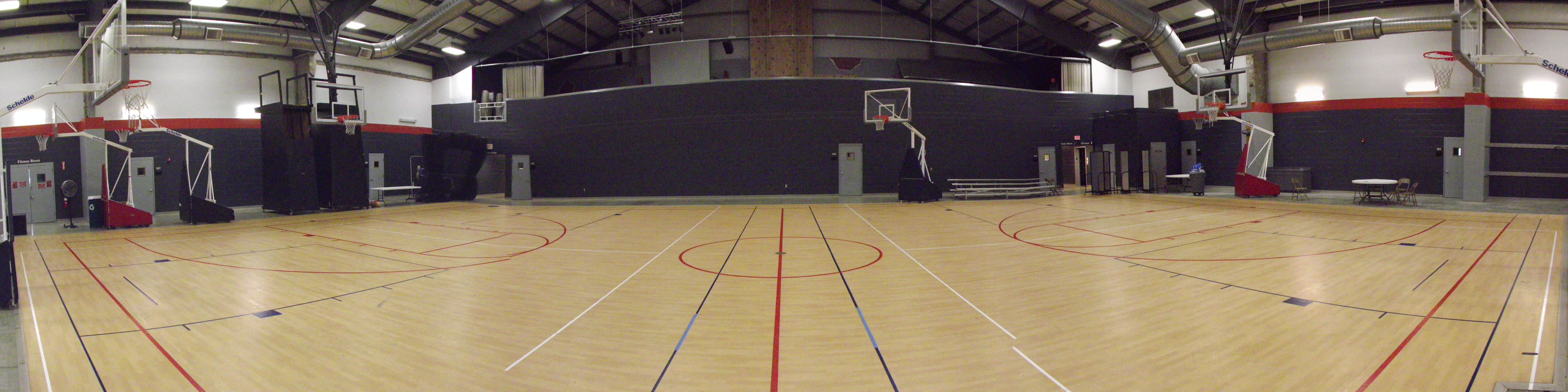 A panoramic view of the basketball/gym side. We are done! Many thanks to the incredibly amazing Men's Ministry @ Ginghamsburg!